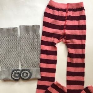 Hanna Anderson Tight &Leg Warmers 5-6Y